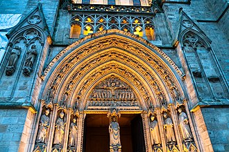 Bordeaux Cathedral - Image: Bordeaux saint andre detail 01