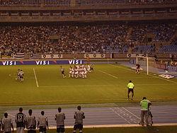 Partida de futebol do alvinegro em seu novo estádio. 5ebe4a9dc34ef