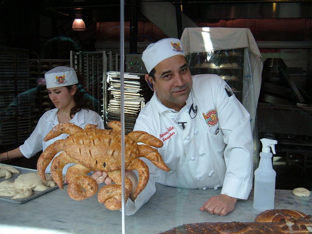 file boudin bakery  fisherman u0026 39 s wharf baker showing off