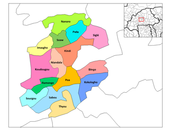Ramongo Department location in the province