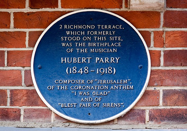 Bournemouth Blue Plaques- No. 25 - Hubert Parry (geograph 4429939)