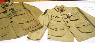 Uniform and insignia of the Boy Scouts of America - These early BSA uniforms, from the 1910s, resembled military uniforms