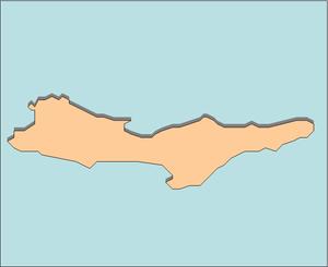 Boyuk Zira - Outline of Nargin Island