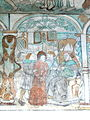 Brøns kirke - Wandmalerei 3- Christus vor Hohempriester Kaiaphas.jpg