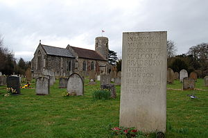 Malcolm Bradbury - Malcolm Bradbury's Grave at St Mary's Church, Tasburgh, Norfolk
