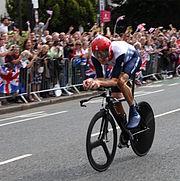 Racing cyclist.