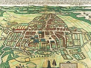 1590s in Denmark - Braniuss' topographical image of Odense from 1593