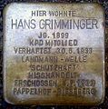 Braunschweig Julius-Konegenstr. 15 Stolperstein Hans Grimminger (2012).jpg