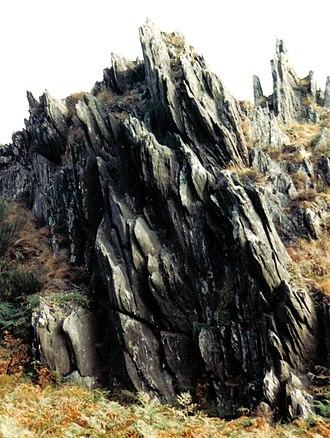 Monts d'Arrée - Image: Bretagne Finistere Roc Trevezel 1991 001