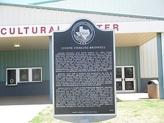 Joseph Sterling Bridwell - Bridwell historical marker in Wichita Falls