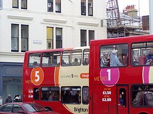 Brighton & Hove (bus company) - Metro branding in December 2005