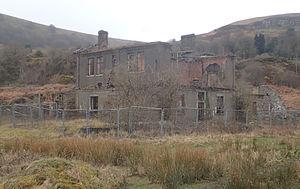 Abersychan - The ironwork's derelict main office building, designed by architect Decimus Burton