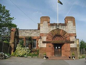 Lululaund - British Legion hall (2009). The arched entrance-way in the c1900 photo of Lululaund.