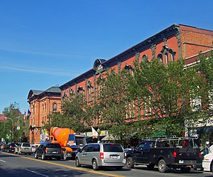 Saratoga Springs, New York - The Broadway Historic District in Downtown Saratoga Springs.