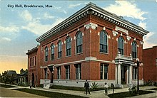 Postcard Brookhaven City Hall, early 20th century.