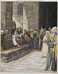 La femme adultère--Christ écrit par terre