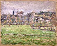 Brooklyn Museum - View of Bazincourt (Vue de Bazincourt) - Camille Jacob Pissarro.jpg