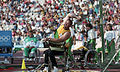 Bruce Wallrodt throwing discus at 1992 Paralympics.jpg