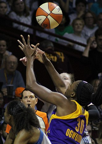 Nneka Ogwumike - Ogwumike during game 5 of the 2017 WNBA Finals