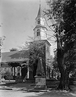 Bruton Parish Church, fotograferad av Frances Benjamin Johnston på 1930-talet