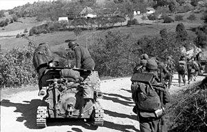 L3/35 - Italian L3/35 in Albania, September 1943.