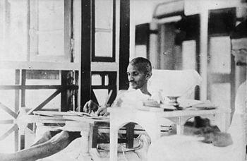 Mahatma Gandhi on hunger strike