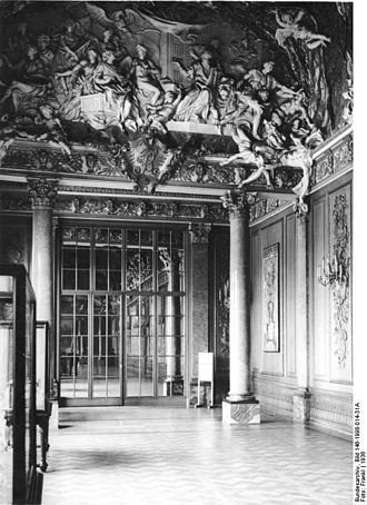 Monbijou Palace - Museum interior view, 1936