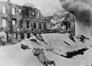 Sowjetische Soldaten in Stalingrad (Januar 1943)