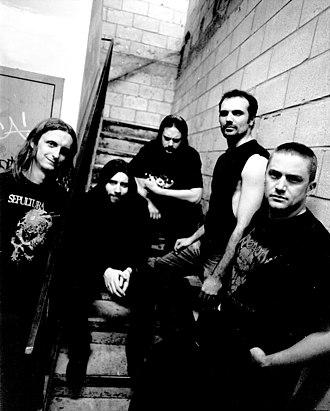 Sam Dunn - Burn to Black 2006 (L-R: Sam Dunn, Paul Harrington, Evan Johnston, Rob Ouellette, Alex Zubair)