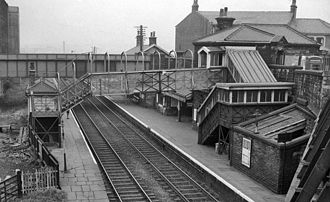 Burnley Barracks railway station - The station in 1962