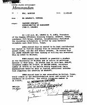 "Memo from FBI Special Agent in Texas, regarding call by ""GHW Bush of Zapata Off-Shore Drilling Company"" received 75 minutes after JFK's murder"