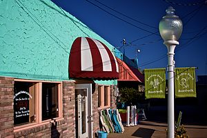 Carolina Beach, North Carolina - Business front on the Carolina Beach Boardwalk during the off season