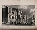 Busy street-life in front of Edinburgh University, Scotland. Wellcome V0012579.jpg