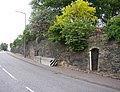 Buttressed retaining wall, Wakefield Road, Lightcliffe, Hipperholme - geograph.org.uk - 187849.jpg