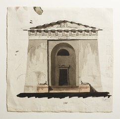 Sketch for a Mausoleum or Sepulchral Chapel in Antique Style, Elevation of Facade