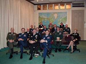 Capstone Military Leadership Program - Newly promoted Generals and Admirals attending CAPSTONE, 2001
