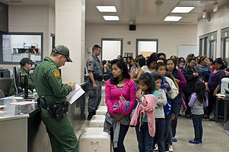 2014 American immigration crisis - CBP Processing Unaccompanied Children on the South Texas Border in 2014