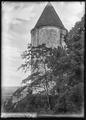 CH-NB - Champvent, Château de Champvent, tour est, vue partielle extérieure - Collection Max van Berchem - EAD-7236.tif