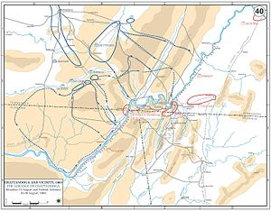 Battle of Chickamauga - Chickamauga Campaign, movements 15–30 August 1863