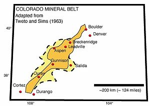 Colorado Mineral Belt - Image: CO Mineral Belt