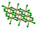 Ball-and-stick model of cadmium chloride