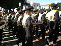 Cal Band en route to Memorial Stadium for 2008 Big Game 03.JPG