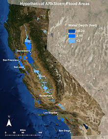 Map Of California Flooding.Great Flood Of 1862 Wikipedia