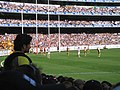 Cameron Mooney lines up for what to be another behind, 2008 AFL Grand Final.jpg