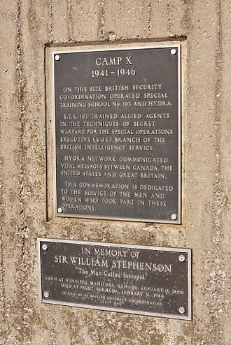 Camp X - Plaque and memorial at the site of Camp X