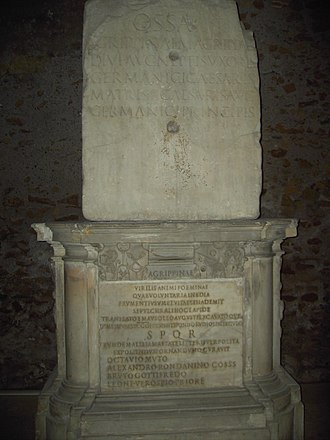 Mausoleum of Augustus - Cinerary urn of Agrippina which now rests in the Palazzo dei Conservatori of the Capitoline Museums near the Tabularium.