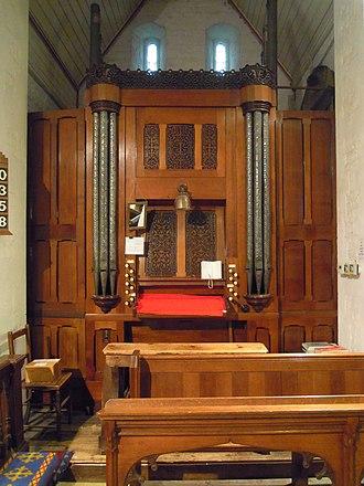 Church of All Saints, Campton - Image: Campton Church organ