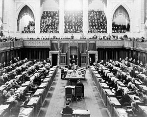Canadian House of Commons in session