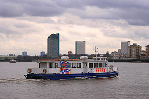 Canary Wharf – Rotherhithe Ferry - The ferry crossing the Thames to Rotherhithe