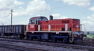 Walkers Limited - State Rail Authority 73 class at Grafton station in January 1986